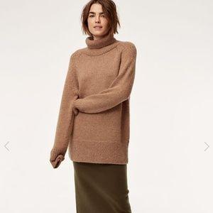 Aritzia Babaton The Group Alpaca Sweater Tan XS